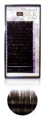 Diamond szálas műszempilla J ívű 0,25  12mm sötét barna(tálcás)