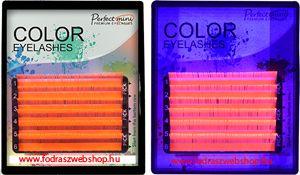 Fluoreszkáló színes pillák B/C 0,2mm Mix tálca