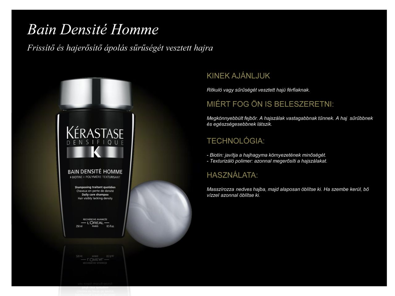 Bain Densite Homme 250ml