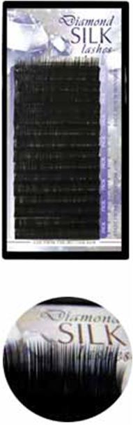 Diamond szálas műszempilla A/J ívű 0,15 12mm (tálcás)